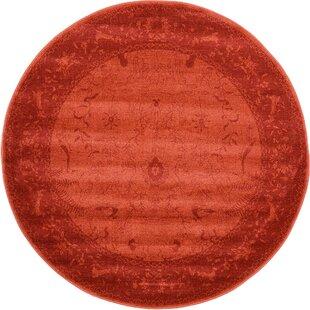 Shailene Rust Red Area Rug by Mistana
