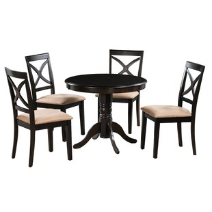 Lennon 5 Piece Solid Wood Dining Set by Alcott Hill Fresh