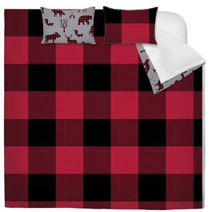 Spradling Printed Plaid Reversible Comforter Set