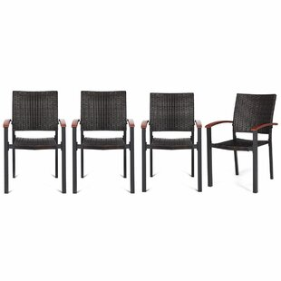 Williar Stacking Patio Dining Chair (Set of 4)