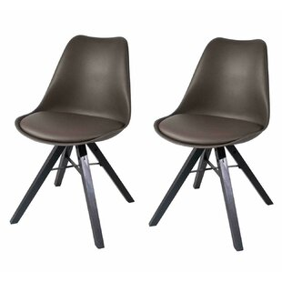 Rochford Upholstered Side Chair in Brown Set of 2