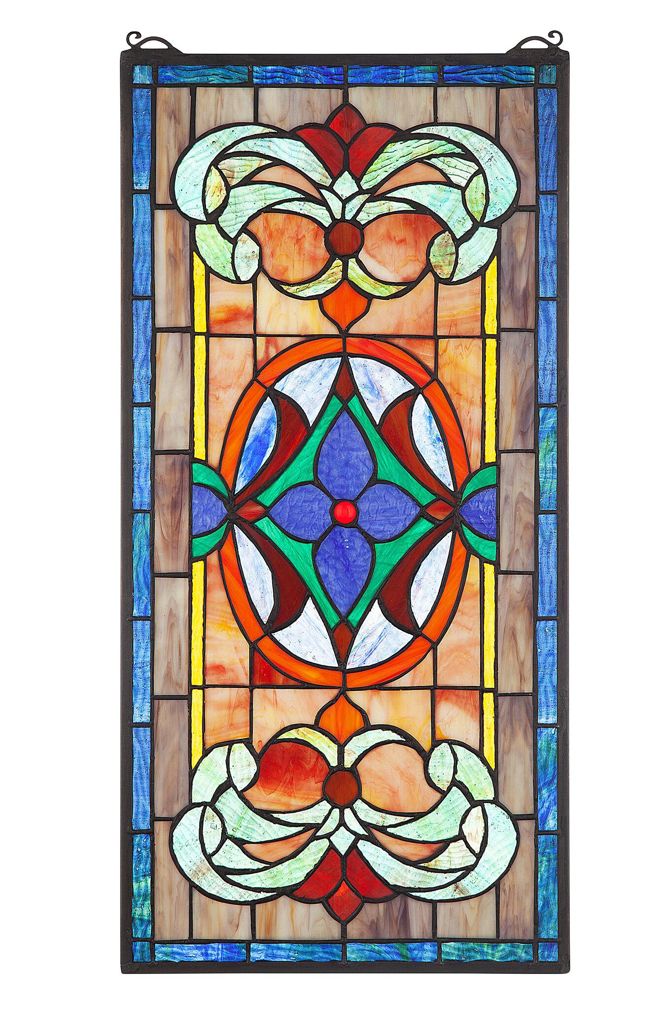 Design Toscano Sainte Genevieve Stained Glass Window Panel