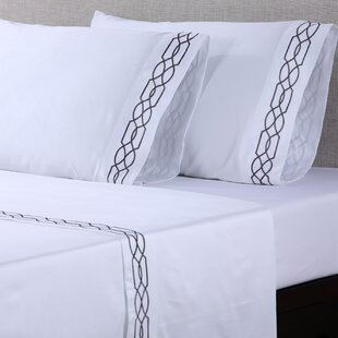 4 Piece 600 Thread Count 100% Cotton Embroidered Sheet Set