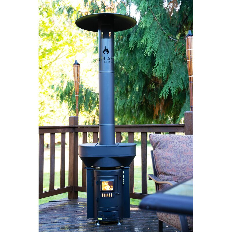 Q-Stoves Outdoor Wood Pellet Patio Heater Q-Flame Q05C ...