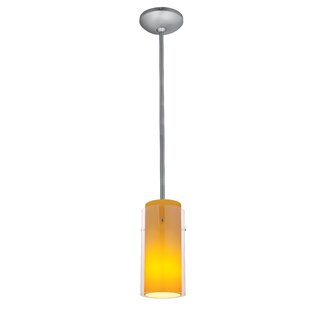Cavazos Cylinder 1-Light Mini Pendant by Ebern Designs