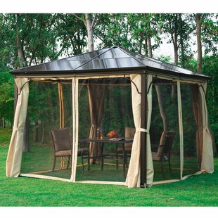 10 Ft. W x 10 Ft. D Aluminum Patio Gazebo by Outsunny