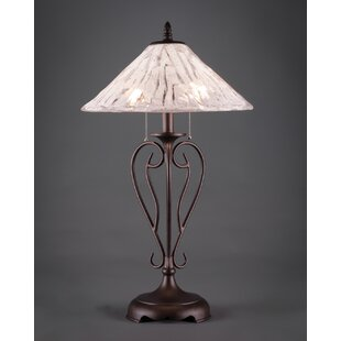 Wrought iron table lamps wayfair olde iron 27 table lamp mozeypictures Choice Image