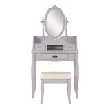 Arnold Dressing Table Set with Mirror