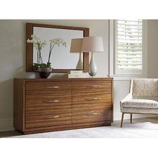 Kitano 6 Drawer Dresser With Mirror by Lexington Reviews