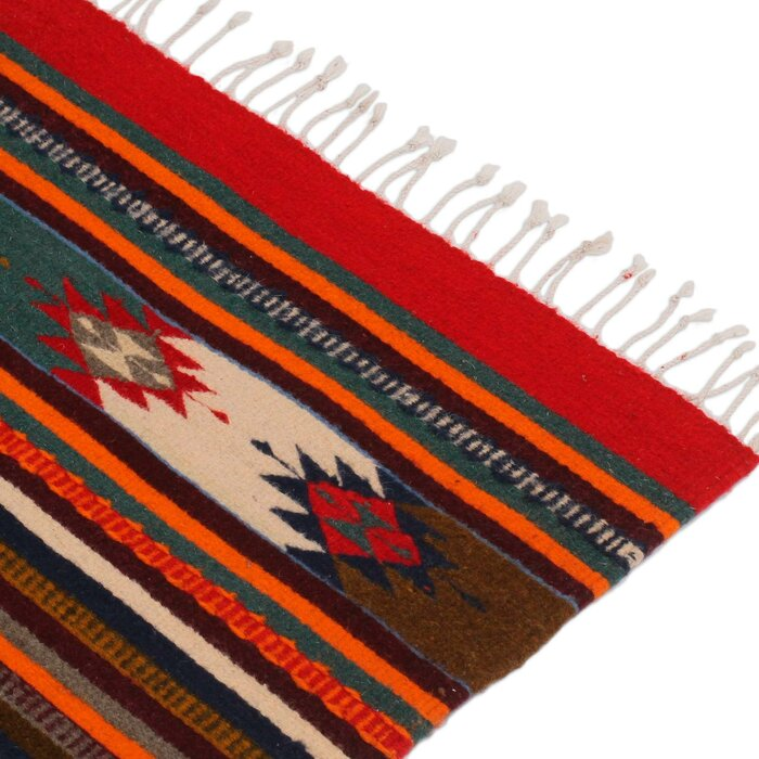 Weare Artisan Crafted Geometric It S A Colorful Life Expertly Hand Woven Mexican Wool Home Decor Area Rug