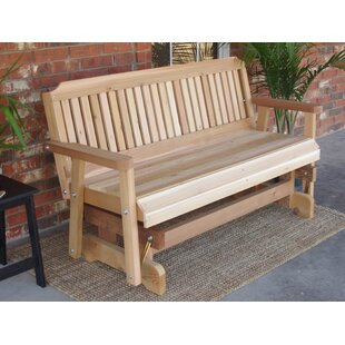 Courtney Cedar Glider Bench