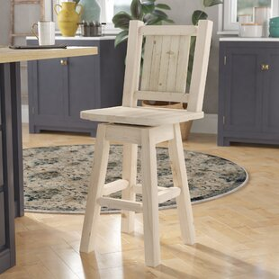 Abella 24 Wood Swivel Bar Stool by Loon Peak