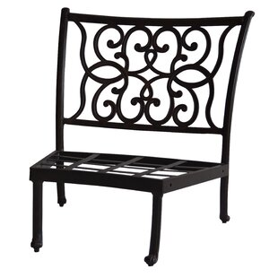 Santa Anita Armless Curved Club Chair with Cushions by K&B Patio
