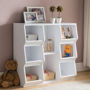 8 Shelf Cube Unit Bookcase & 8 Cube Storage Unit White   Wayfair