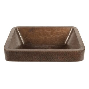 Premier Copper Products Metal Rectangular Vessel Bathroom Sink