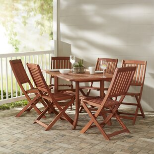 Monterry 7 Piece Rectangular Wood Dining Set