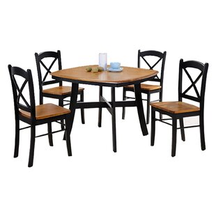 Allis 5 Piece Dining Set by Loon Peak Coupon