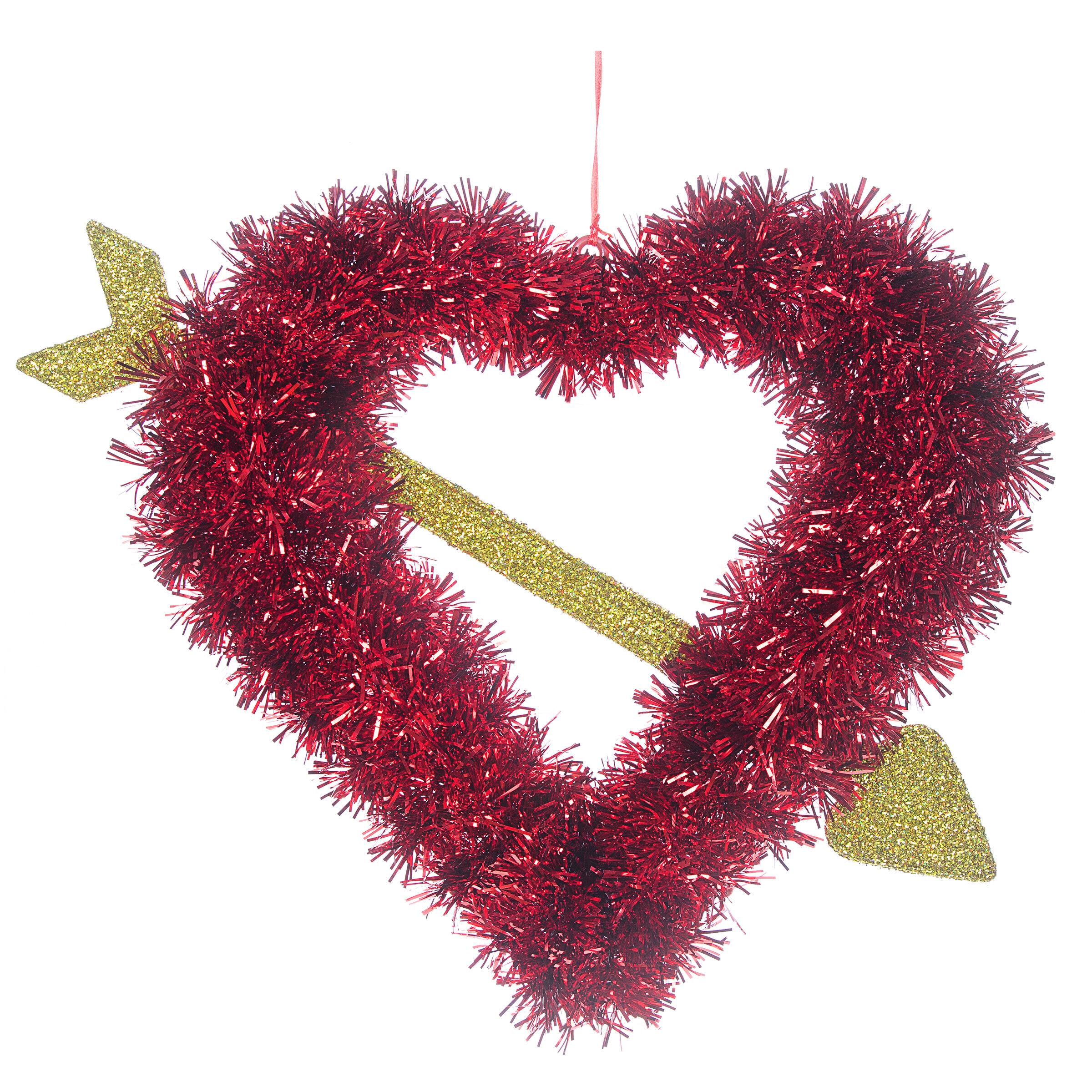 The Holiday Aisle Hanging Tinsel Heart Wayfair