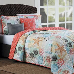 Clarendon 5 Piece Reversible Quilt Set