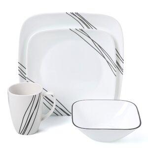 Simple Sketch 16 Piece Dinnerware Set, Service for 4