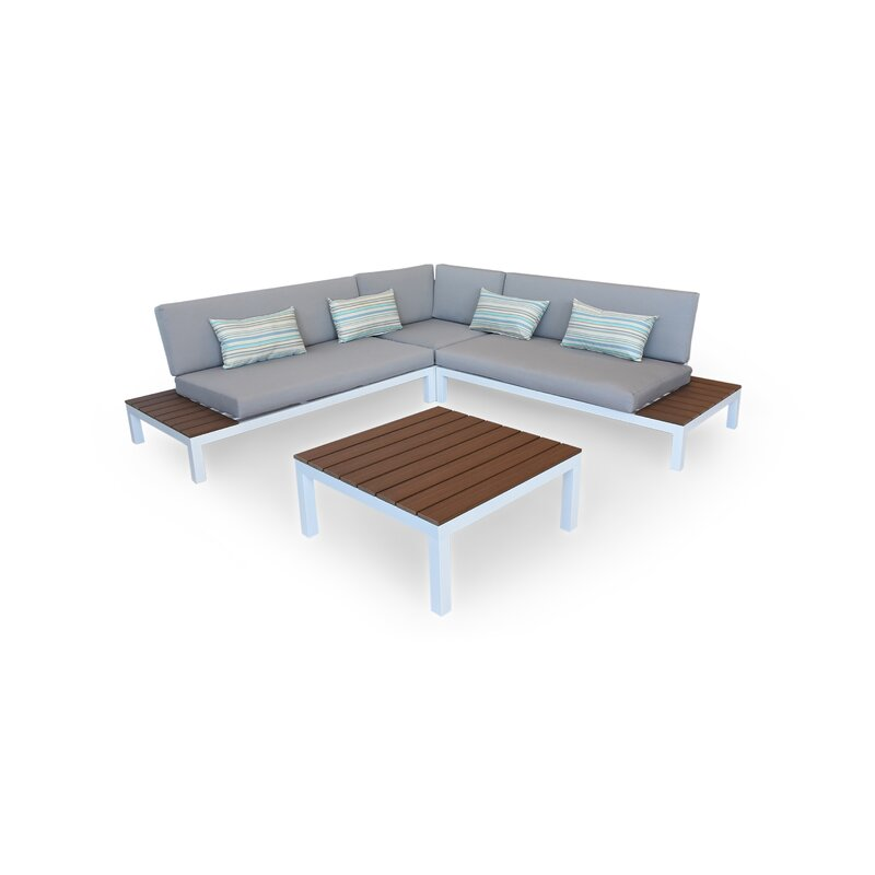 Nelson Outdoor Furniture Modern Patio Sofa With Cushions