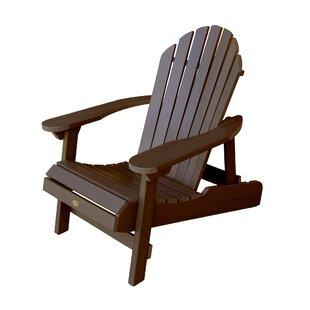 Phat Tommy Hamilton Plastic Folding Adirondack Chair by Buyers Choice