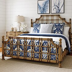 Twin Palms Panel Bed
