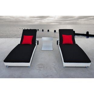 Solis Patio Zori Chaise Lounge Set with Cushions (Set of 3)
