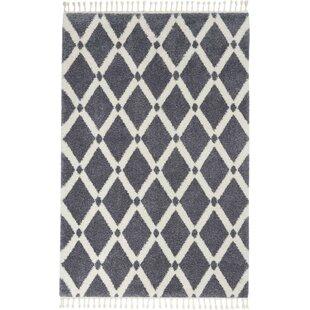 Hillside Modern Geometric Ivory/Dark Gray Area Rug