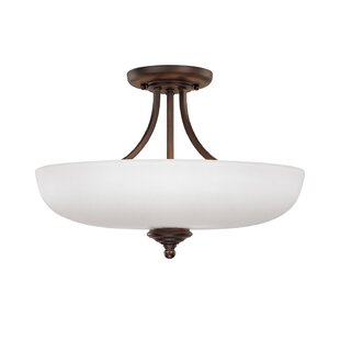 Farrell 3-Light Semi Flush Mount by Alcott Hill