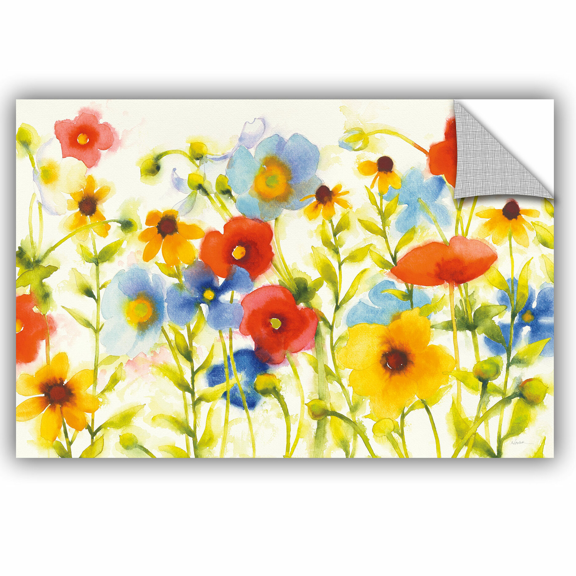 August Grove Jara Americana Meadow I Crop Removable Wall Decal Wayfair