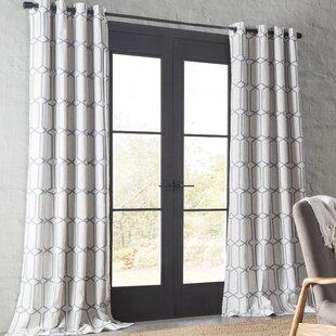 Atwell Geometric Room Darkening Thermal Grommet Single Curtain Panel by Eider & Ivory