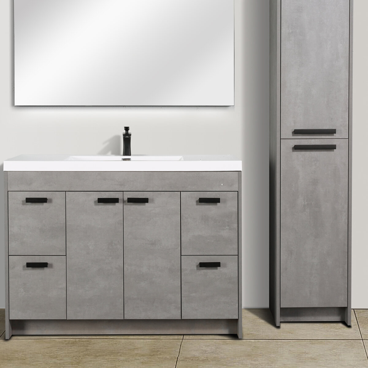 Latitude Run Daggna Modern 48 Single Bathroom Vanity Set Wayfair