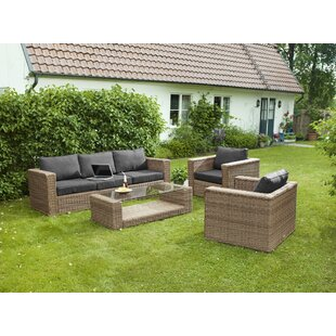 Varese 5 Seater Rattan Sofa Set By Sol 72 Outdoor