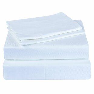 Garlington Genuine Jacquard 300 Thread Count Geometric 100% Cotton Sheet Set