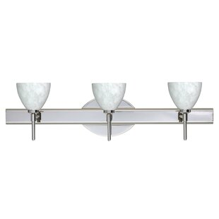 Latitude Run Cavan 3-Light Frost White Vanity Light