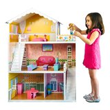 Kids Wooden Open Dollhouse