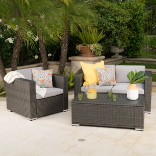 Smithton 3 Piece Sofa Set with Cushions
