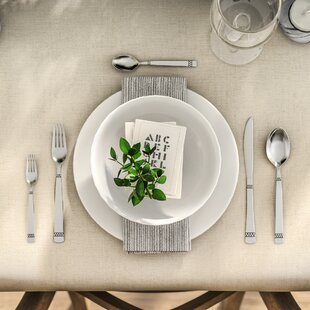 Fulvia Gloss Stainless Flatware Set, Service for 4 (Set of 4)