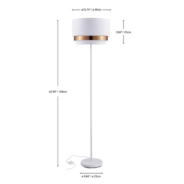 George Oliver Delapena 63 Floor Lamp Reviews Wayfair