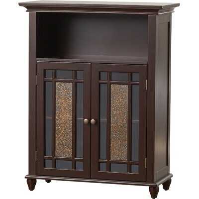 Caleb 2 Door Accent Cabinet Color: Dark Espresso by Alcott Hill