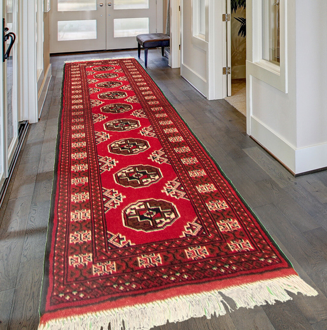 Bloomsbury Market Agathi Hand Knotted Wool Red Brown Rug Wayfair