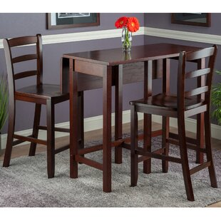 Bettencourt 3 Piece Drop Leaf Dining Set Red Barrel Studio