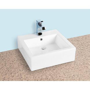 Compare Ceramic Square Vessel Bathroom Sink with Overflow ByWinfield products