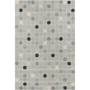 Inexpensive Oritz Hand Tufted Wool Gray/Black Area Rug By Brayden Studio