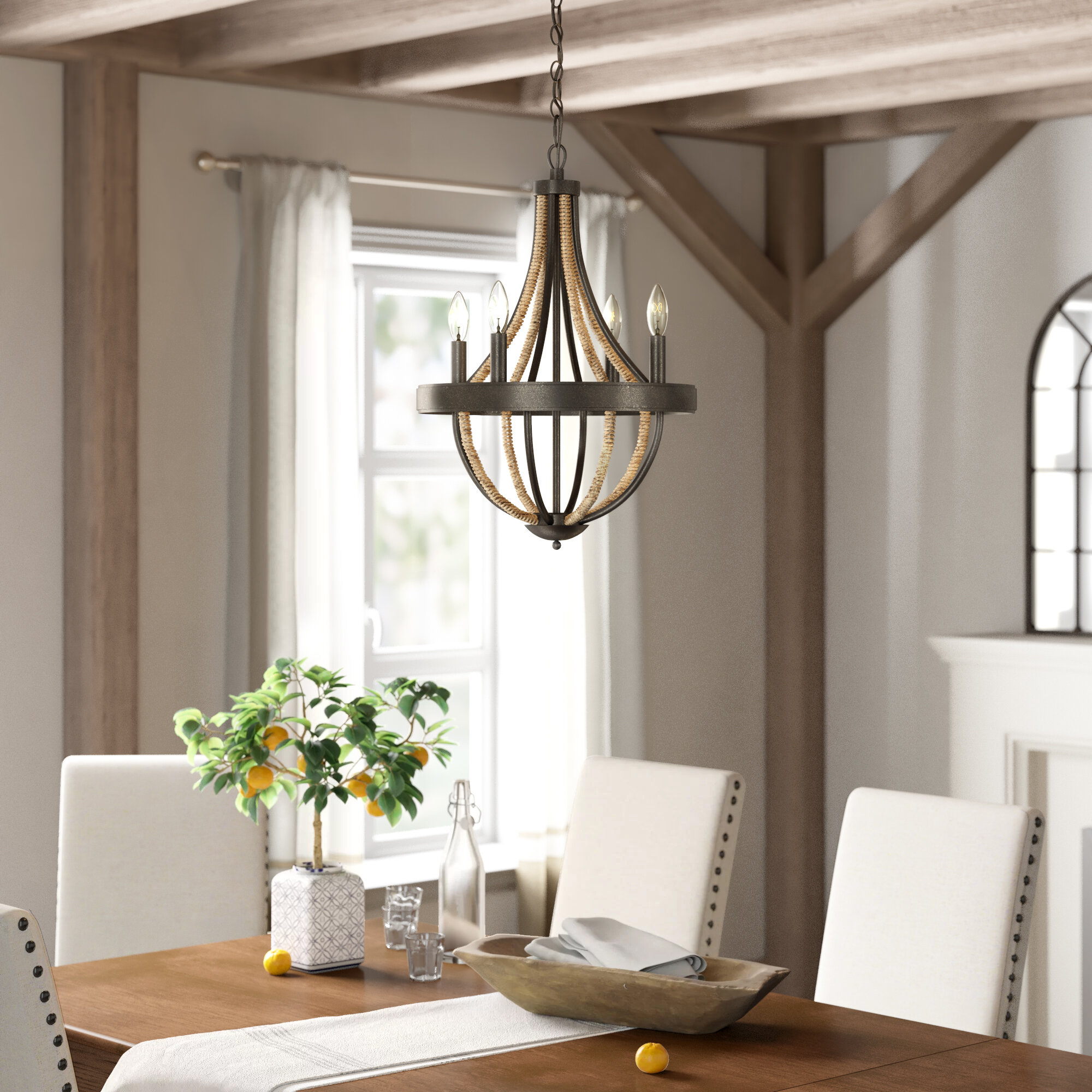 Rustic Chandelier For Dinning Room Clear Crystal Beads Farmhouse Candle Chandelier 4 Light Rustic Wrought Iron Light Fixtures For Dinning Living Room Bedroom 4 X E12 Candelabra Socket Base Lighting Ceiling Fans Tools