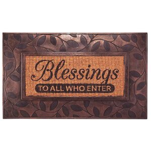 Blessings to All Who Enter' Doormat