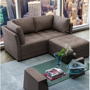 Shop Frampton Upholstery Modular Loveseat with Ottoman by Latitude Run