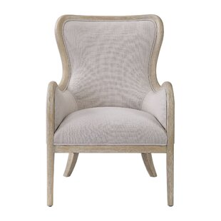 Tiberius Wingback Chair by One Allium Way