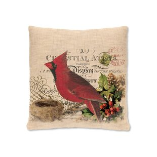 Winter Garden Cardinal Throw Pillow